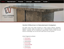 Tablet Preview of natur-stein-werk.de